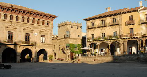 Plaza Mayor of the Spanish village
