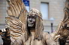 Lebende Statuen der Rambla