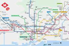 Map of the metro of Barcelona