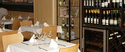 Typical Mediterranean cuisine and tapas in the Chardonnay restaurant