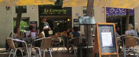 Terrasse des Restaurant La Cerveseria