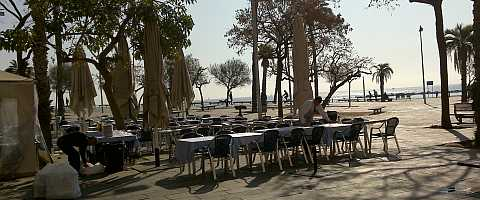 The terrace overlooking the sea at the Salamanca restaurant
