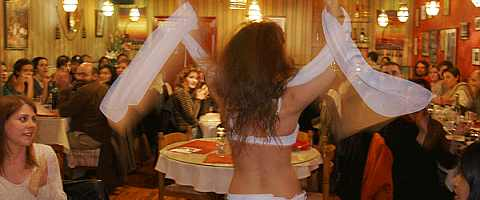 Bauchtanz im Restaurant Volubilis