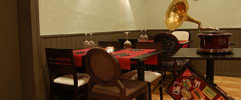 The Zafra restaurant offers typical flair