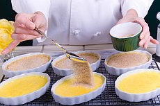 Recipe for a Crema Catalana, a Catalan dessert