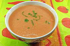 Recipe of Cazpacho, a cold vegetable soup