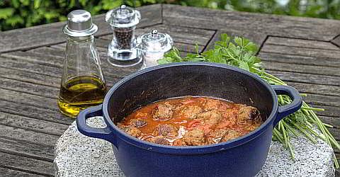 Rezept für Boles de Picolat - Hackfleischbällchen mit Tomatensauce
