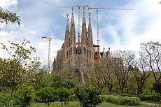 The towers of the Sagrada Familia
