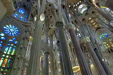 The interior of the Sagrada Familia