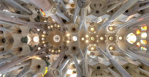 The nave of Sagrada Familia