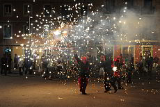 The celebrations of the holiday Sant Joan in Barcelona