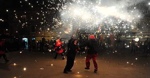 Traditional festivals with correfoc