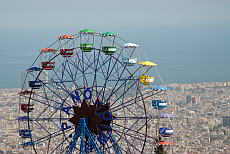 Tibidabo, pleasure and magnificent view