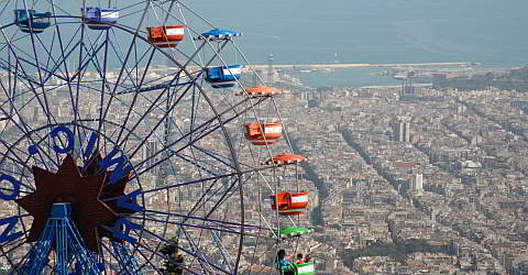 From Tibidabo, you have a great view of Barcelona