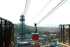 Up to the Montjuïc by cable car and funicular