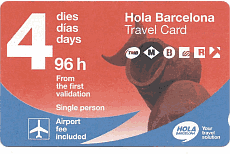 Hola Barcelona, multi-day ticket for the publich transport