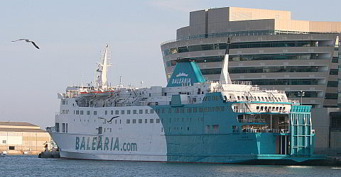 Ferry from Barcelona to destinations in the Mediterranean